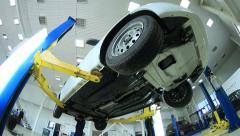 Car in the auto service Stock Footage