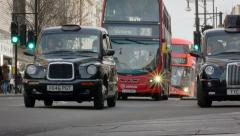 Oxford Street, London: traffic and pedestrians Stock Footage