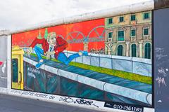 East Side Gallery in Berlin, Germany Stock Photos