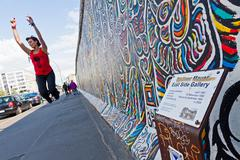 East Side Gallery in Berlin, Germany - stock photo