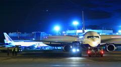Airport runway timelapse Stock Footage