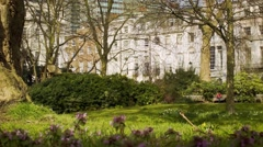 Fitzroy Square, London, UK Stock Footage
