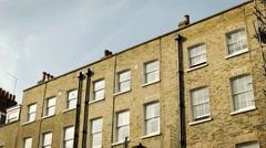 Traditional London period building, establishing shot, long shot Stock Footage