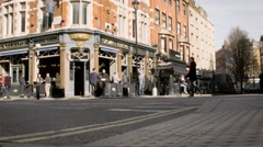 The Crown and Sceptre public house, Fitzrovia, London, UK Stock Footage