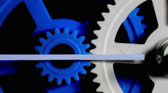 Colorful Plastic Gears Rotate Synchronously - stock footage