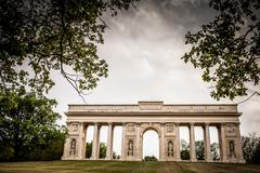Colonnade Reistna, a neoclassical landmark and a viewpoint above - stock photo