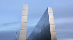 Empty Sky Memorial to 9/11 victims in Liberty State Park, NJ Stock Footage