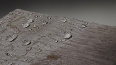 Highly effective water repelling, ecological nano - coating for wood Stock Footage