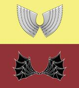 Demon and Angel Wings Piirros