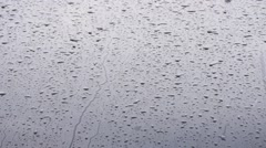 Stock Video Footage of Rain Fall On Car Windscreen