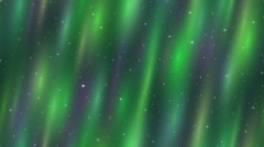 Empty Space, Northern Lights, Seamless Loop - stock footage