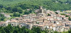 Arcidosso (Tuscany, Italy), panoramic view - stock photo