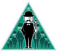 Hipster Secret Society Stock Illustration