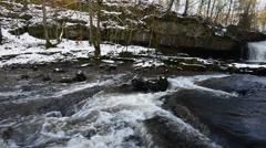 West Burton falls Stock Footage