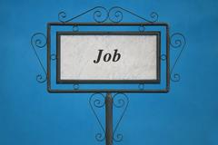 """The Word """"Job"""" on a Signboard - stock photo"""