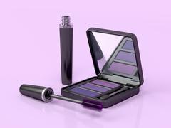 Mascara and eye shadow Stock Illustration