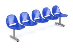Waiting room chairs Stock Illustration