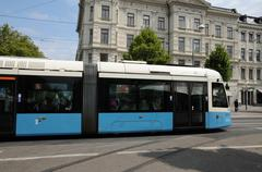 Sweden, tramway in the city of Goteborg - stock photo