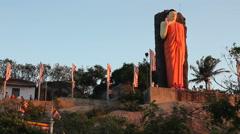 Sri Lanka Buddha, Poya Festival Stock Footage