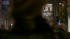 4K FHD Verona Christmas Fair Piazza delle Erbe crowds lights street decoration - stock footage