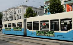 Sweden, tramway in the city of Goteborg Stock Photos