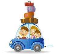 Family car - stock illustration