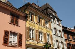 Stock Photo of France, Alsace, renaissance house in Colmar