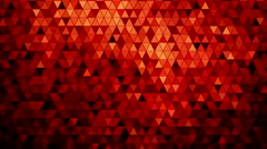 Stock Video Footage of Red mosaic abstract background animation. 4K resolution