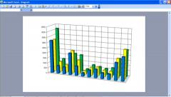 Presentation of charts Stock Footage