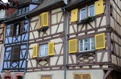 France, Alsace, renaissance house in Colmar - stock photo