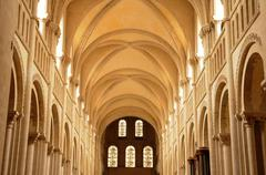 Caen,  the Abbaye aux Dames in Normandie - stock photo