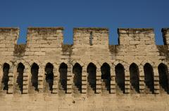 France, the ramparts of Avignon in Provence Stock Photos