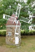 Quebec, small windmill in the city of Montmagny - stock photo