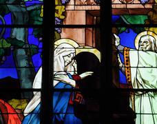 Saint Jean du Baly church in Lannion Stock Photos
