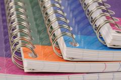spiral bound exercise book - stock photo
