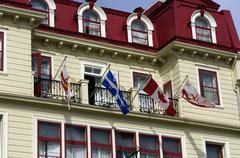 picturesque city of Quebec - stock photo