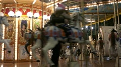 4K FHD Verona Piazza Bra Carousel turning Italy Veneto Stock Footage