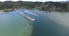 Kaneohe Yacht Club, Kaneohe Bay, Oahu, Hawaii Stock Footage