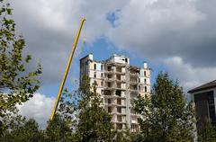 Stock Photo of demolition of an old tower in Les mureaux