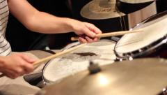 Drummer hands playing jazz music Stock Footage