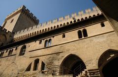 France, Le Palais Des Papes in Avignon - stock photo