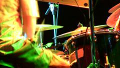 Drummer hands close up playing very fast Stock Footage
