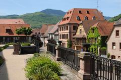 France, the village of Bergheim  in Alsace Stock Photos
