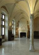 France, the council room in the Amboise castle - stock photo