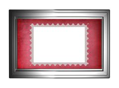 Blank post stamp in a frame Kuvituskuvat
