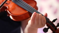 Stock Video Footage of Little violin player left