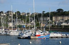 Stock Photo of Brittany, the harbour of Perros Guirec
