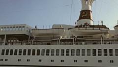 Rhodes 1983: TS Maxim Gorkiy, soviet cruise ship Stock Footage