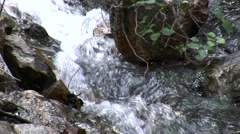 Placerita waterfalls (slide) ease-out HD Stock Footage