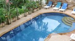 Swimming Pool in Phuket Thailand Stock Footage